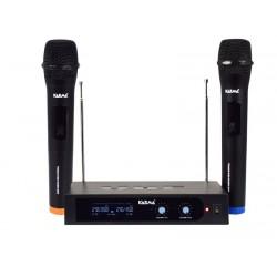 RADIOMICROFONO DOPPIO PALMARE VHF (SET 6252A)