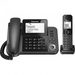 TELEFONO FISSO DECT SEGRETERIA TELEFONICA VIVAVOCE + CORDLESS KX-TGF320EXM