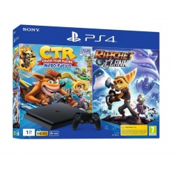 CONSOLE PS4 1TB SLIM + CRASH TEAM RACING + RATCHET & CLANK EU