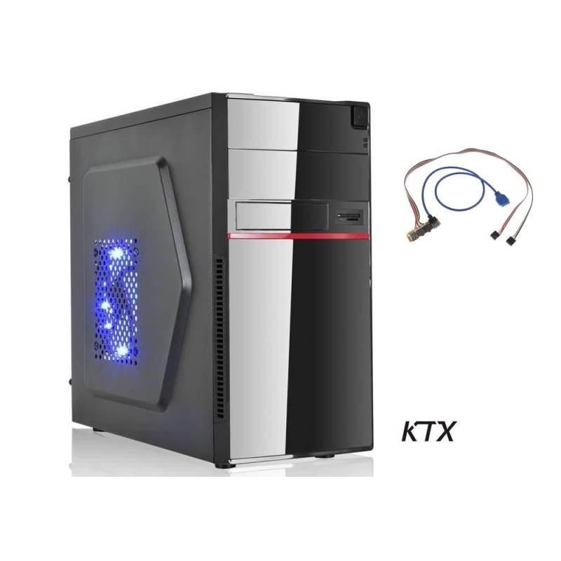 CASE TX-662U3 MATX ALIMENTATORE 550W + PORTA USB 3.0 - NERO / ROSSO