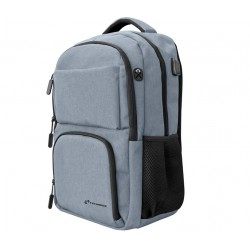 "BORSA ZAINO PER NOTEBOOK 15"" TECHBAG-O-GRAY GRIGIO"