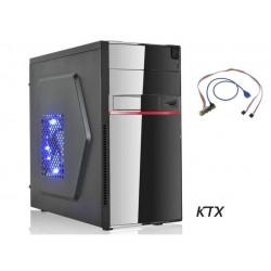CASE TX-662U3 MATX ALIMENTATORE 550W PORTA USB 3.0 - NERO / ROSSO