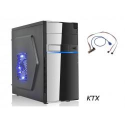CASE TX-663U3 MATX ALIMENTATORE 550W PORTA USB 3.0 - NERO / BLU