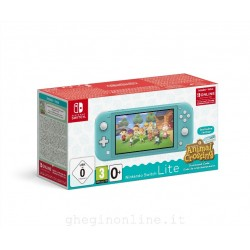 CONSOLE SWITCH LITE TURCHESE + ANIMAL CROSSING: NEW HORIZON PACK + NSO 3 MESI (LIMITED)