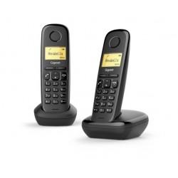TELEFONO CORDLESS GIGASET A170 DUO NERO (L36852-H2802-K101)