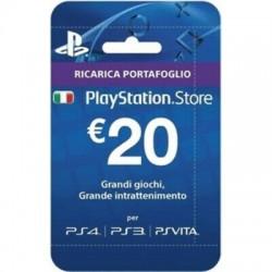 CARD PLAYSTATION HANG - RICARICA 20 EURO