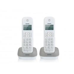 TELEFONO CORDLESS GALA TWIN BIANCO/GRIGIO