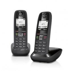 TELEFONO CORDLESS GIGASET AS405DUO NERO (SIEAS405DUOBK) DOPPIO