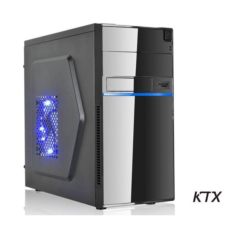 CASE TX-663 MATX ALIMENTATORE 550W - NERO / BLU