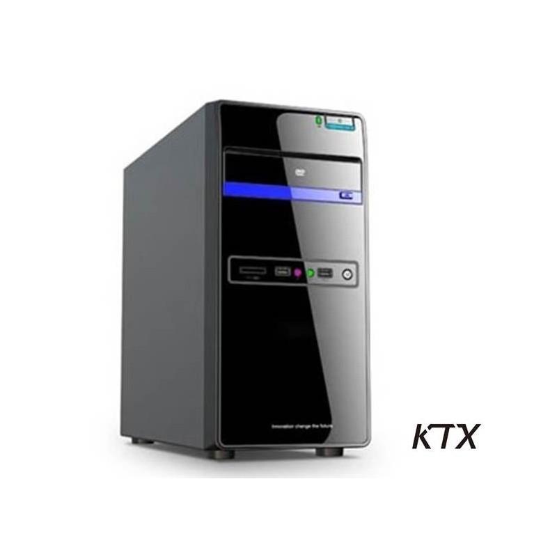 CASE TX-664 MATX ALIMENTATORE 550W - NERO / BLU