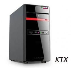CASE TX-665 MATX ALIMENTATORE 550W - NERO / ROSSO