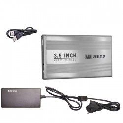"""BOX ESTERNO 3.5"""" (29015) SATA USB 3.0 SILVER"""
