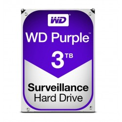 "HARD DISK PURPLE 3 TB SATA 3 3.5"" (WD30PURZ)"