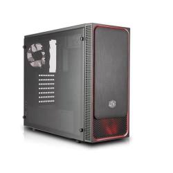 CASE MASTERBOX E500L LED ROSSO (MCB-E500L-KA5N-S01) NO ALIMENTATORE