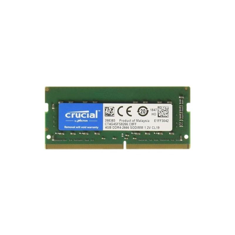 MEMORIA SO-DDR4 4 GB PC2666 (1X4) (CT4G4SFS8266)